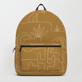saguaro cactus line drawing Backpack