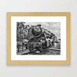 Stanier 48624 mono, landscape Framed Art Print