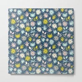 Bugs and Flowers Metal Print