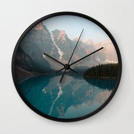 Sunrise over Moraine Lake Wall Clock