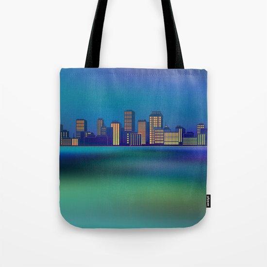 Seaside Cityscape Tote Bag