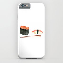 Watercolor Sushi Rolls And Chopsticks iPhone Case