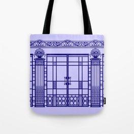 ART DECO, ART NOUVEAU IRONWORK: French Blue Tote Bag
