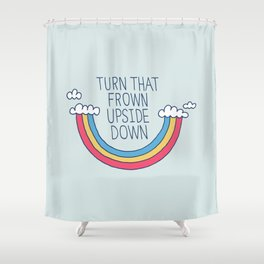 Upside Frown Shower Curtain