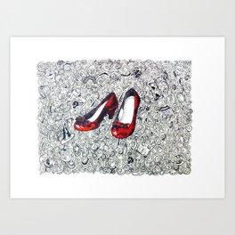 Rubby Slippers Art Print