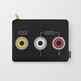 Plug in your mood! (Music + Video) Carry-All Pouch