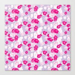 Quince flower pattern 2c Canvas Print
