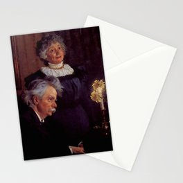 Edvard Grieg (1843 – 1907) accompanying his wife by Peder Severin Kroyer (1851-1909) Stationery Cards
