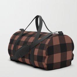 Plaid (Black & Maroon Pattern) Duffle Bag