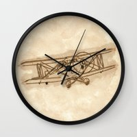 airplane Wall Clocks featuring Airplane by LaDa