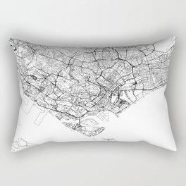 Singapore White Map Rectangular Pillow