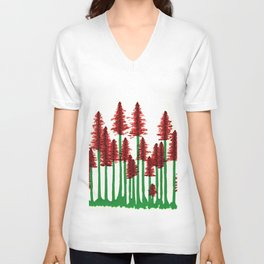 red forest Unisex V-Neck