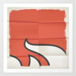 Red Line Parts 2 Art Print