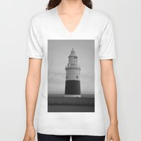 lighthouse V-neck T-shirts featuring Lighthouse by Simon Ede Photography