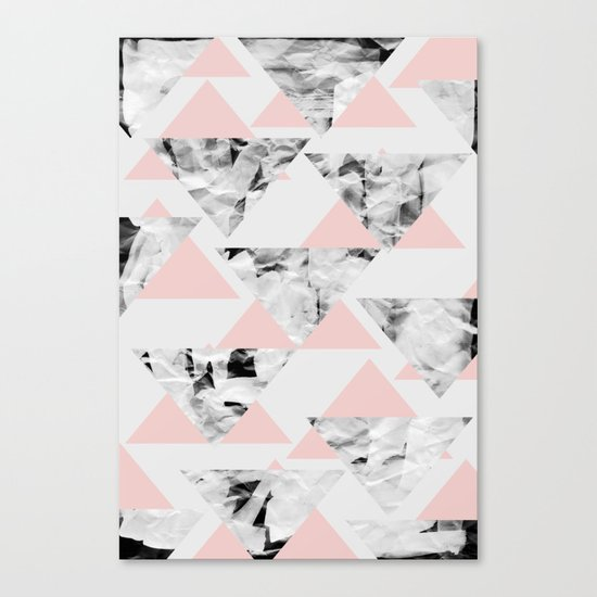 Pink Triangles Canvas Print