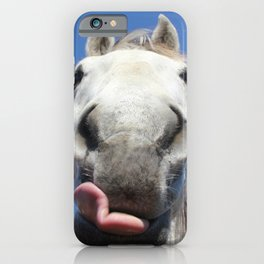 Horse Licks Photography Print iPhone Case