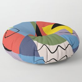 Abstract composition dali Floor Pillow
