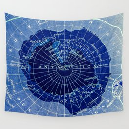 South Pole Neon Map Wall Tapestry