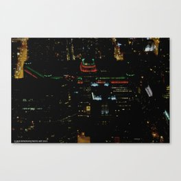The Merchandise Mart in Red and Green (Chicago Christmas/Holiday Collection) Canvas Print