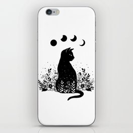 Night Garden Cat iPhone Skin