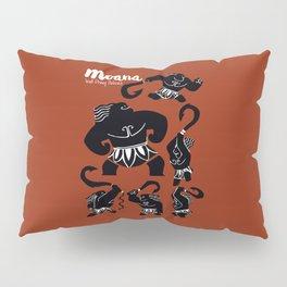 Moana, Animated Movie Poster, Oceania, Vaiana, minimal, alternative, film, playbill, 3D cartoon Pillow Sham