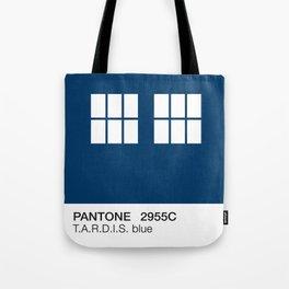 TARDIS Blue Pantone Tote Bag
