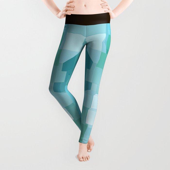 Blue and Green 3D Leggings