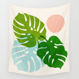 Abstraction_FLORAL_NATURE_Minimalism_001 Wall Tapestry
