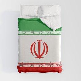 Iran Flag Three-Coloured Flag Duvet Cover