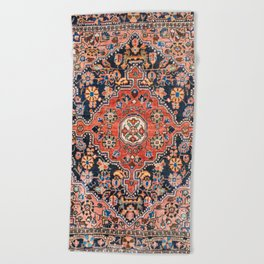 Djosan Poshti West Persian Rug Print Beach Towel