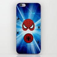 spider man iPhone & iPod Skins featuring Spider Man by haroulita