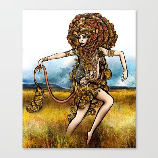 Astrology Illustration Series-Leo Canvas Print