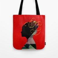 redhead Tote Bags featuring Redhead by John Murphy