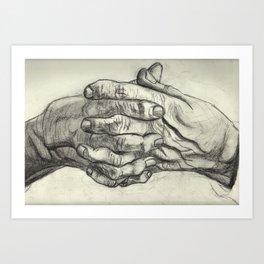 Old Hands Art Print