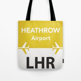 LHR yellow one Tote Bag
