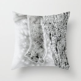 Dangling Squirrel Throw Pillow