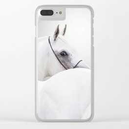 white arabian horse Clear iPhone Case