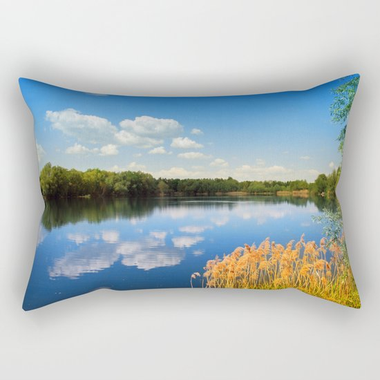 Beautiful lake 44 Rectangular Pillow