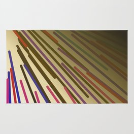 wild design lines  Rainbow edition Rug