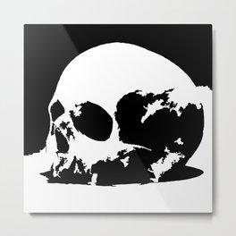 Skull dual Metal Print