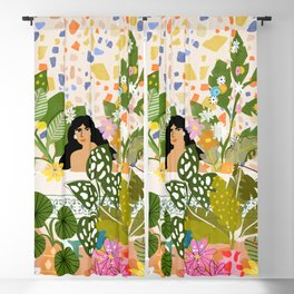 Bathing with Plants Blackout Curtain