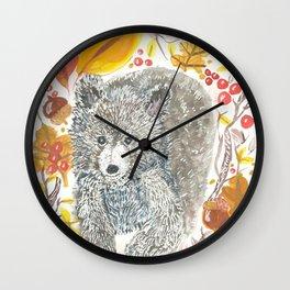 Beary Fall Wall Clock