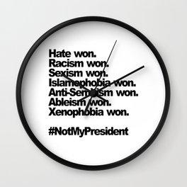 hate won Wall Clock