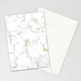 Fine Gold Marble Natural Stone Gold Metallic Veining White Quartz Stationery Cards