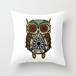 Owl Lover? A Perfect Owls Tee For You Made of Tools Owlet T-shirt Design Nocturnal Night Birdline Throw Pillow