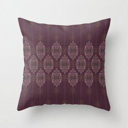 Vintage Burgundy horizontal Throw Pillow