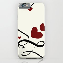 heart with infinity iPhone Case