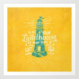 Lost At Sea II. Art Print