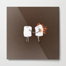 Mallow on Fire Metal Print