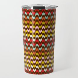 Mod Stripe Pattern Travel Mug
